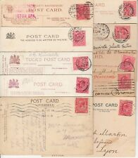 Lot 10 cartes postales timbrées timbre england britain angleterre 1907 1905 1904