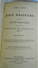 1865 Antique Book John Brainerd Missionary Nj American Indians Christianity Pa