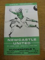 01/11/1969 Newcastle United Reserves v Huddersfield Town Reserves  (4 Pages, fol