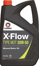 COMMA X-FLOW 20W50 MINERAL MOTOR OIL 4.5L PETROL,DIESEL,VINTAGE,CLASSIC ENGINE