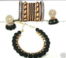 Beautiful designer indian ehnic silk thread necklace set(color can be customized