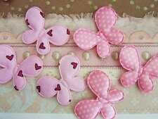 50 Valentine Heart & Polka Dot Sweet Pink Butterfly Applique/trim/craft/bow H222