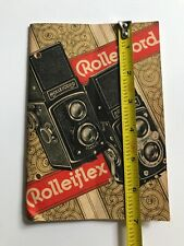 """ROLLEIFLEX ROLLEICORD """"THE PRACTICAL ACCESSORIES"""" BOOKLET"""