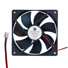 12V DC 120mm X 25mm Brushless 2 Pin Cooling Fan LED Heatsink Marine PC CPU