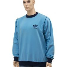 Adidas Vintage Sweatshirt Pullover - Made in Hungary - blue - Size:XL (pu01)