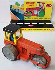 Vintage DINKY 279 AVELING-BARFORD DIESEL ROLLER Diecast Model & Custom Display
