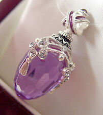 SALE ! SUPERB RUSSIAN EGG PENDANT STERLING SILVER 925 ENAMEL with AMETHYST