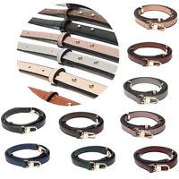 DIY Leather Shoulder Purse Strap Replacement Adjustable Messenger Bags Belt 1.1M