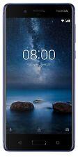 New Launch Nokia 8 Unlocked Dual SIM-4G+4G-13MP Camera-4GB RAM-Polished Blue
