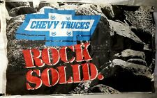 "Vintage Rare Chevy Truck ""Rock Solid"" Authentic Flag 58"" × 36"" w/ grommets."