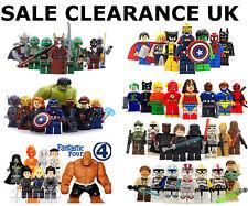 Lego SuperHeroes Minifigures + Custom Super heroes Mini Figures Various MiniFigs