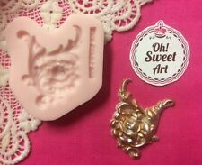 Medallion Vintage Scroll silicone mold fondant cake decorating  wax soap jewel