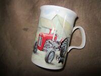 Roy Kirkham English bone china mugs with FORD TRACTORS/farm scene - Nice!