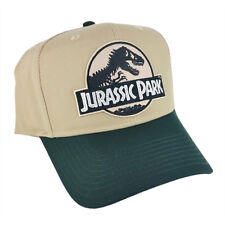 Jurassic Park Movie Desert Camo Sci fi Patch Green Khaki Snapback Cap Hat