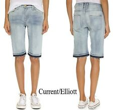 NWT $198 CURRENT/ELLIOTT FADED BERMUDA SHORTS IN OCEAN SPRAY. MADE IN USA SZ 25