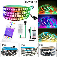 5M WS2812B RGB LED Strip 5050 IC Individual Addressable 5V+Bluetooth Controller