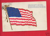 US FLAG IN GOD IS OUR TRUST 1908 MELLINGER  ROSELAWN OHIO  POSTCARD