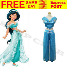 AU Aladdin Adult Jasmine Princess Genie Cosplay Belly Dancer Womens Costume