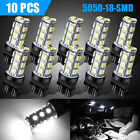 10 X 3157 3156 Super White 18SMD LED Reverse Tail Brake Signal Light Bulbs 6000K