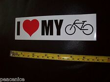 Pegatina para el Parachoques: me encanta mi bici bicicleta () Diversión Coche Decal Estilo Ciclismo mantenerse en forma