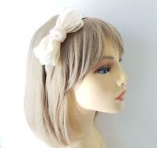 Stunning IVORY coloured double bow headband - aliceband - prom - bridal