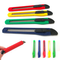 5 Utility Knife Box Cutter Retractable Snap Off Lock Blade Tool Razor Sharp !