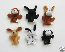 12 Puppy Dog Kids Finger Puppets Party Goody Loot Bag Toy Filler Favor Supply