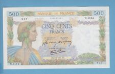 (Ref: N.937)  500 FRANCS (LA PAIX) 9/07/1942 (NEUF-)