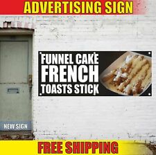 Funnel Cake French Toasts Stick Advertising Banner Vinyl Mesh Decal Sign Sundays
