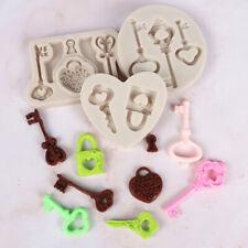 Key Lock Silicone Fondant Mold Cake Decorating Chocolate Sugarcraft Baking Mould