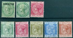 Gibraltar - 1886 First Issue and 1889 Issue