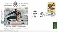 1996**FDC 1°JOUR**COMITE INTERNATIONAL OLYMPIQUE-110 M.HAIES-ATLANTA**TIMBRE USA