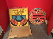 Wooden Spelling & Counting Board Made In The U.S. Vintage Educational Toy