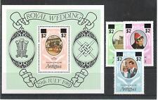 Antigua 766-68+ Block 77 Royal Wedding with Print (MNH)