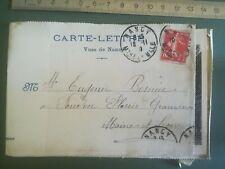 CARTE LETTRE ENTIER POSTAL 1909 Nancy - 4 CPA PHOTO - semeuse 10c
