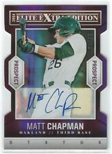 2014 Panini Elite Extra Edition - MATT CHAPMAN AUTO - Purple STATUS - #25/75!!!