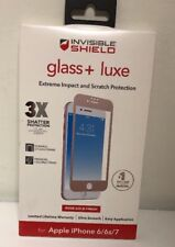 NEW Zagg Invisible Shield Glass+ Luxe Screen Protector iPhone 8 7 6s 6 ROSE GOLD