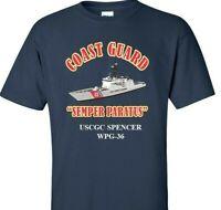 USCGC SPENCER  WPG-36 *COAST GUARD  VINYL PRINT SHIRT/SWEAT