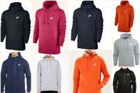 Nike Men's Club Zip Up Track Top Hoodie Black Grey Navy Swoosh Sport Leisure Gym