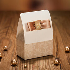 100 PCS Wedding Favour Favor Sweet Cake Gift Candy Boxes Bags Anniversary