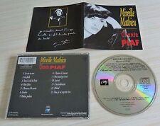 CD ALBUM CHANTE PIAF MIREILLE MATHIEU 13 TITRES 1993
