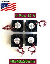 4Pcs 12V 5V Gdstime 40mm 40x40x20mm 4020S 2P Fan DC Duct Ventilation Cooler Fan