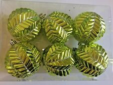 6 Chartreuse Christmas Shatter Resistant 3 Inch Geometric Ornament Decorations