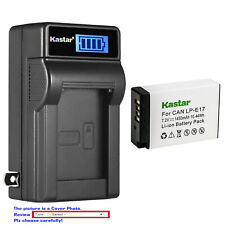 Kastar Battery LCD Wall Charger for Canon LPE17 EOS RP Mirrorless Digital Camera