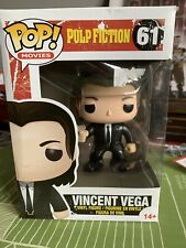 PULP FICTION OFFICIAL VINCENT VEGA FIGURE BOXED FUNKO POP VINYL #61 NEW
