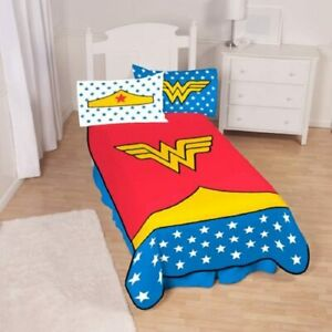 Classic Wonder Woman Plush Blanket, Kids Bedding, 62x90, Red, Blue, and Yellow