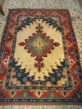 Vintage Turkish Hand woven Woollen Rug good condition