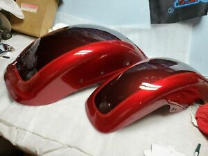 New T/o Front Fender Harley Fatboy 2018 Wicked Red Twisted Cherry OEM Nice!