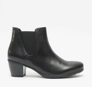 Gabor ECOLOGICAL Ladies Womens Autum Winter Casual Leather Ankle Boots Black