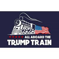 5PCS Donald Trump 2020 All Aboard the Trump Train Exterior Bumper Sticker -SS